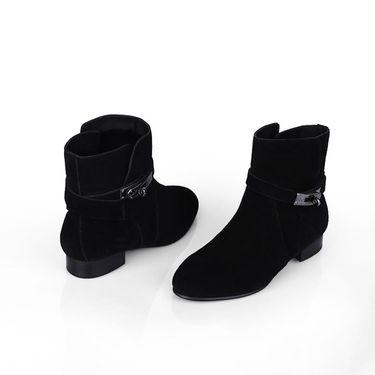 DK UGG 秋冬季新款户外时尚靴子女士百搭女款脚踝靴休闲反牛皮短靴加厚休闲女鞋DK308 IVy