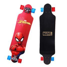 漫威 MARVEL滑板儿童平板四轮全闪长板舞板蜘蛛侠VCD71275-S