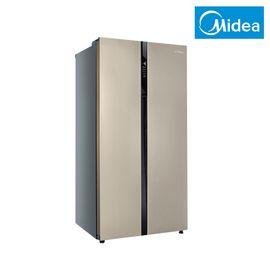 美的MIDEA 545升 对开门风冷无霜冰箱 家用大容量 中央精准控温  BCD-545WKM(Q) 芙蓉金