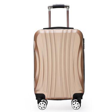 形象派 贝壳款拉杆箱高档行李箱学生密码万向轮24寸旅行箱香槟金 9106