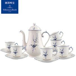 唯宝 Villeroy & Boch 德国唯宝 经典卢森堡系列 咖啡杯套装 茶壶搪瓷家用茶具茶杯6人份下午茶