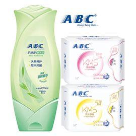 ABC ABC 卫生护理液 200ml/支(中药护理配方) 加上 ABC日夜组合装2包16片