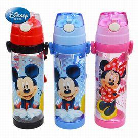 迪士尼 塑料水杯 儿童吸管防漏水杯  650ml HM2421