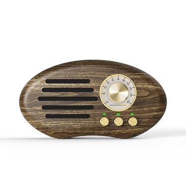 MANOVO/万人迷 无线蓝牙音箱复古收音机便携手机迷你音响低音炮木质音箱