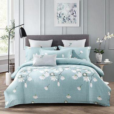 九洲鹿 欧式全棉四件套 梦莎拉蒂 1.5/1.8米床 被套200*230cm/220*240 高支纯棉床单双人床品套件