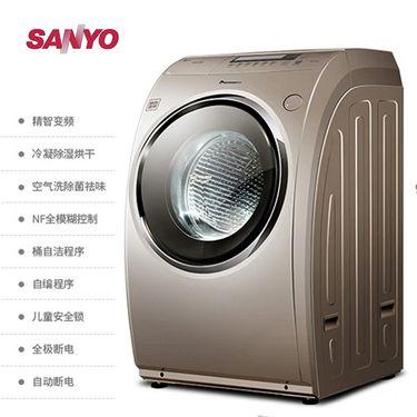 三洋 帝度 全自动变频滚筒洗烘一体机 9公斤  DG-L90588BHC