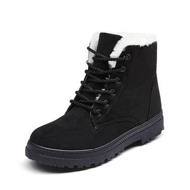 Royalpure 【外观专利仿冒必究】新款雪地靴男女平跟韩版马丁靴冬季加棉短靴棉鞋