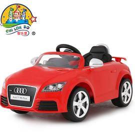 智乐堡 奥迪儿童电动车四轮汽车小孩玩具车可坐人宝宝电动车带遥控