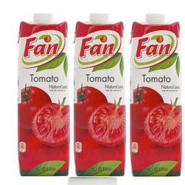 中粮 【中粮海外直采】Fan纯果芬番茄汁1L*3瓶(塞浦路斯进口 盒)