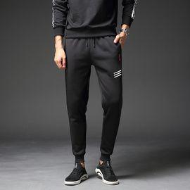 富贵鸟 冬季休闲裤男士加绒加厚保暖运动长裤修身韩版时尚潮流裤子