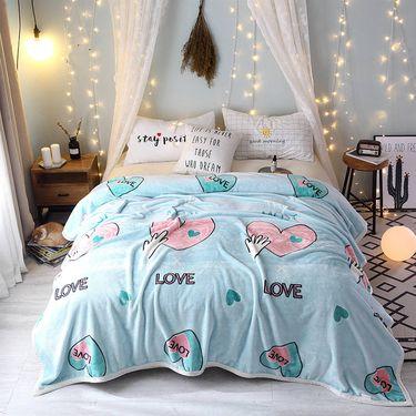 杉杉 双面珊瑚绒毯子懒人毯保暖绒毯双人午睡毯盖毯150*200CM 花型随机