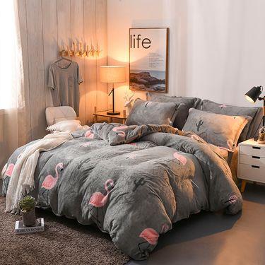 MONTAGUT 梦特娇 加厚保暖法兰绒套件 床上四件套 被套200*230CM(花型随机)