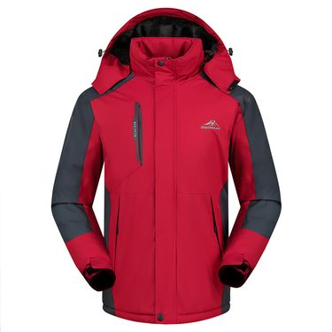 富贵鸟 新款秋冬户外冲锋衣男加绒加厚男棉衣外套大码保暖登山服滑雪服