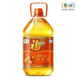 福临门 福临门浓香压榨一级花生油 5L 健康食用油 家庭装 物理压榨 滴滴浓香
