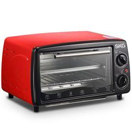 SKG KX1701 【新品上市】电烤箱12L家用多功能迷你烘培面包蛋糕小烤箱红色
