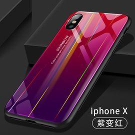 艾芭莎 机伴 新款适用于iPhone6/7/8 XS手机壳苹果7 MAX极光玻璃手机壳XR plus