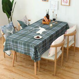 苏吉思 北欧棉麻桌布布艺茶几桌布防水防烫防油免洗圆桌客厅餐桌布LP-212