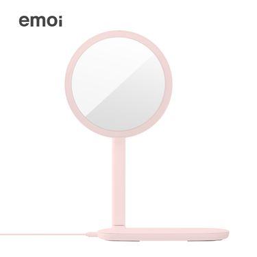 emoi /基本生活 无线充电LED化妆镜高清日光补光美妆镜子创意礼物女