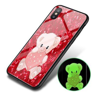 艾芭莎 机伴 苹果手机套Phone7/8手机壳夜光创意苹果XS MAX玻璃壳XR 6plus手机套