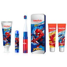 舒客 宝贝迪士尼声波电动牙刷B221X套装+儿童成长牙膏(鲜橙味)60克+儿童成长牙膏(草莓味)60克