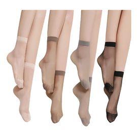 浪莎 短丝袜子 对对袜水晶丝短袜薄款女士短丝袜20双