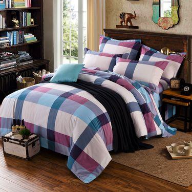澳西奴 生态磨毛四件套全棉双人床上用品四件套纯棉被套床单(艾羽)