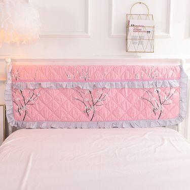 艾桐 纯棉床头罩 布艺软包床头