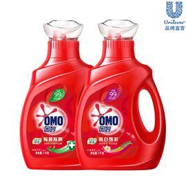 奥妙 除菌除螨 亮白焕彩【天然酵素】洗衣液1000g*2瓶装(口味随机发货)