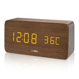 得力 多功能带温度显示电子钟 8815