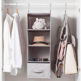 丽芙 家居 衣橱整理挂袋  收纳挂袋衣橱悬挂式衣物多层收纳袋衣柜抽屉盒可水洗