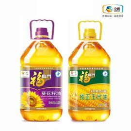 福临门 油惠组合装共7L:(福临门 纯正压榨 非转基因 玉米油3.5L、福临门 压榨一级充氮葵花籽油3.5L)
