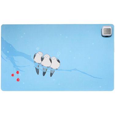 赛亿 (Shinee)暖桌垫加热鼠标垫发热办公桌加热垫暖桌宝暖手桌面发热垫电热桌垫 小鸟孔雀蓝60*36cm ND603T