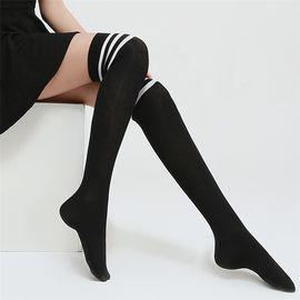 浪莎 长筒袜女韩版过膝袜子女学院风日系高筒半截美腿长靴袜