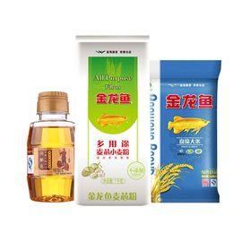 金龙鱼  盘锦大米500g+多用途面粉1kg+胡姬花古法小榨花生油158ml