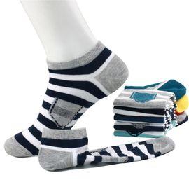 浪莎 袜子男 纯棉运动短袜情侣可爱船袜男6双装混色