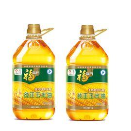 福临门 纯正压榨 非转基因 玉米油3.5L*2