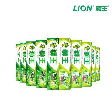 狮王  【10支】劲爽白牙膏90g*10 味道随机