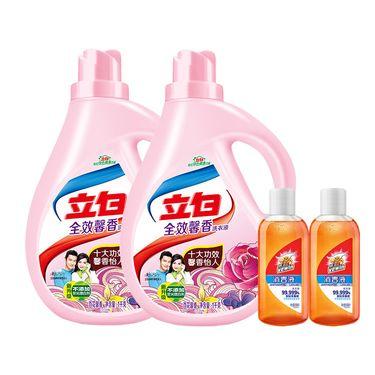 立白 洗衣液 全效馨香 1KG/2瓶装 护色护衣 送旅行装消毒液98ml/2瓶