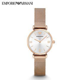 EMPORIO ARMANI 阿玛尼新品正品玫瑰金网红手表女 时尚潮流女士腕表AR1956/AR1955