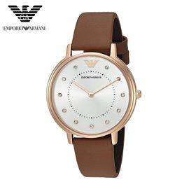 EMPORIO ARMANI 阿玛尼(ARMANI)休闲时尚简约男女士情侣手表 百搭女士腕表 AR8040新品
