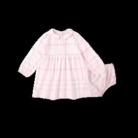 网易严选 格纹棉质褶皱娃娃裙连衣裙(婴童)