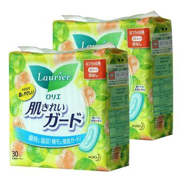 KAO/花王 乐而雅卫生巾日用进口卫生巾姨妈巾20.5cm30片 2包