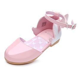 百丽 迪士尼童鞋女童凉鞋新款小童时尚包头凉鞋儿童米奇时装鞋DS2342