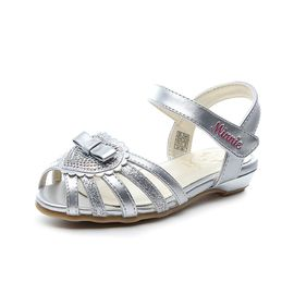 百丽 迪士尼童鞋夏季新款女童鞋凉鞋鱼嘴凉鞋米妮鞋透气学生鞋DS2345