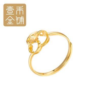 延金 绣球环形立体高雅大气18k金黄色戒指活口 约1.4g