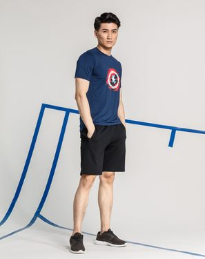 安踏 男款运动T恤 超级英雄印图 男款短袖T恤 漫威电影系列 线下专柜同款