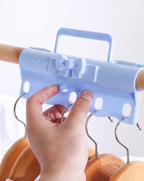 KOKUBO 挂钩/粘钩 日本进口 家用卧室阳台省空间5孔防风挂钩