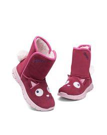斯凯奇 女童棉鞋/雪地靴 Skechers斯凯奇 新潮卡通可爱童鞋 舒适保暖大童短靴
