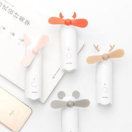 名创优品 迷你风扇 MINISO名创优品 2000mAh动物造型充电宝风扇手持迷你可充电户外便携移动电源充电宝USB小风扇