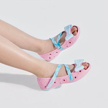 斯凯奇 女童凉鞋/鱼嘴鞋/洞洞鞋 Skechers斯凯奇童鞋 洋气甜美可爱蝴蝶结鱼嘴防滑舒适玛丽珍鞋休闲鞋女童鞋